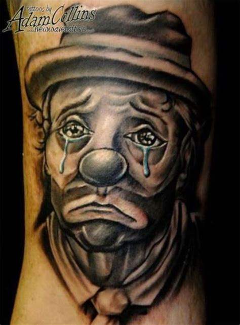 evil joker tattoo meaning 96 best clown tattoo images on pinterest clown tattoo
