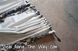 blackout backing for curtains tutorial how to sew diy black out lined back tab curtains