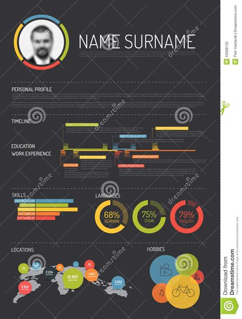 original cv resume template stock vector image 53068132