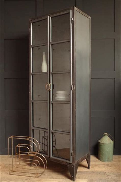industrial style display cabinet vincent  barn