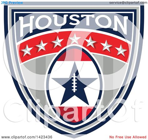 clipart of a retro super bowl 51 houston tx themed