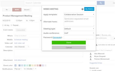Zang Connect For Webex Chrome Web Store Webex Scheduling Templates
