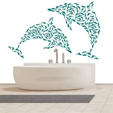 dolphin wall stickers mini dolphins dolphin shapes the sea wall sticker