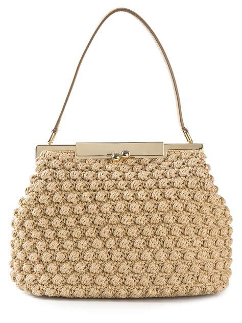 dolce gabbana medium crochet bag in lyst
