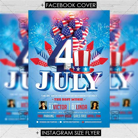 4th Of July Celebration Premium A5 Flyer Template Exclsiveflyer Free And Premium Psd Templates Flyer Celebration Template
