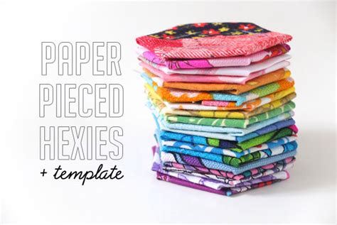 How To Make Paper Pieces - how to paper pieced hexies template my poppet makes