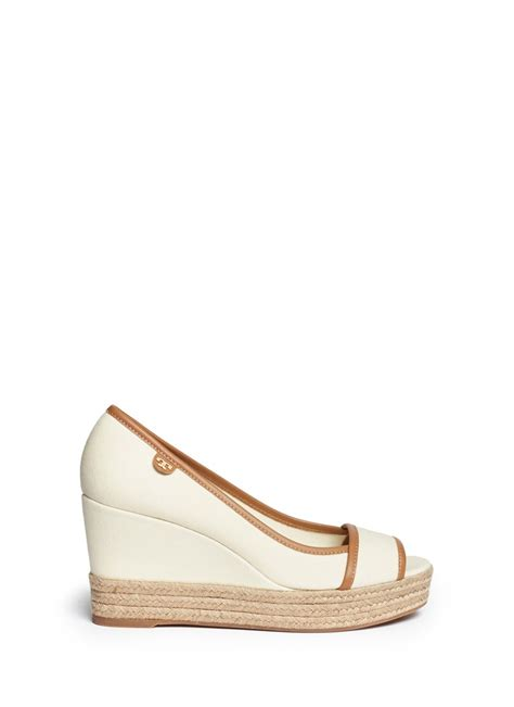 burch majorca canvas espadrille wedge sandals in