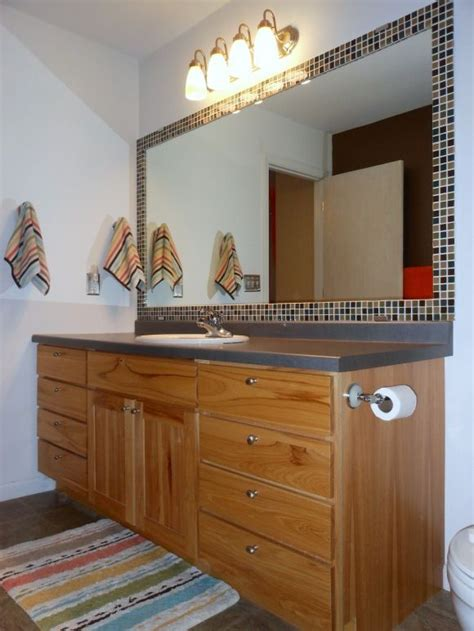 tile framed bathroom mirror diy tiled framed bathroom mirror for the home pinterest