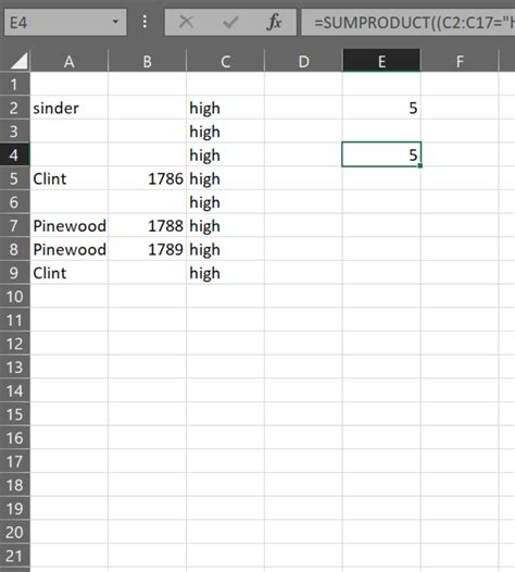 count rows in excel on condition and condition or