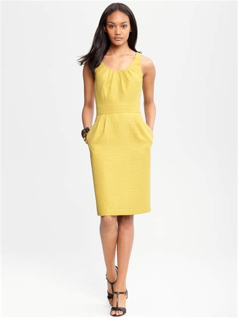 Dress Of The Day Jacquard Dress by Banana Republic Chartreuse Jacquard Dress Light Chartreuse