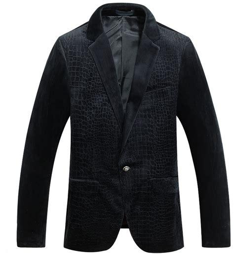 black pattern suit velvet blazer for men manly style