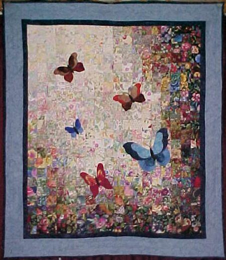 watercolor quilt pattern with cats and butterflies colorwash butterfly quilt quilting projects and