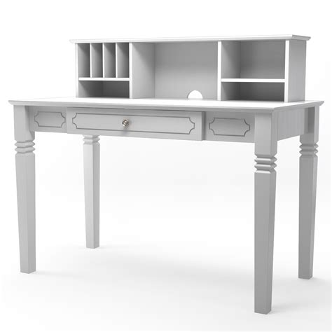 wood desk and hutch region wood writers desk with hutch in white