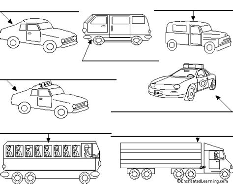 label pattern worksheet label the trucks and cars in hebrew printout