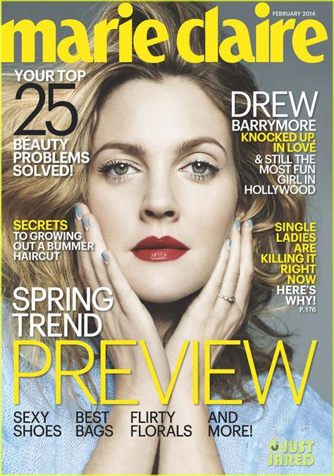 Drew Barrymore Looking Pretty On The Cover Of Janes March Issue by Drew Barrymore Covers February 2014 Photo