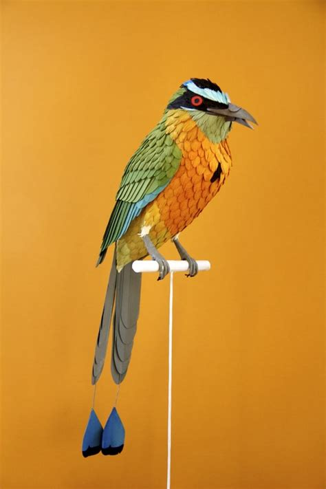 paper bird sculpture birds