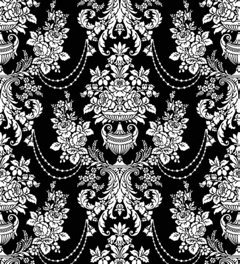 pattern vector black and white classic traditional black and white pattern 02 vector free