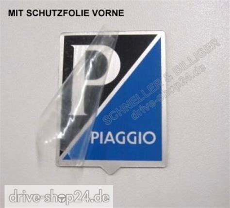 Vespa Piaggio Aufkleber by Drive Shop24 De Piaggio Plakette Emblem Aufkleber