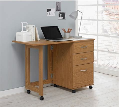 buy home dino 2 drawer space saving office desk oak