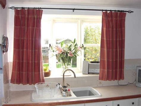 kitchen bay window curtain ideas bloombety window treatment ideas for modern kitchen