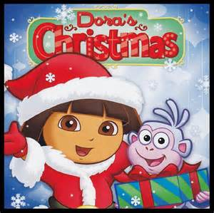 Dora the explorer doras christmas cd with bonus cd rom activity game