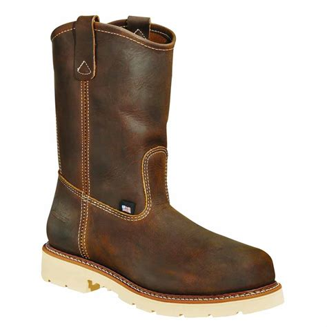 wellington work boots for thorogood 11 inch brown st wellington work boot