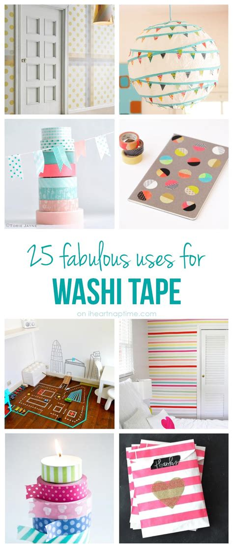diy washi 25 excellent uses for washi tape i heart nap time