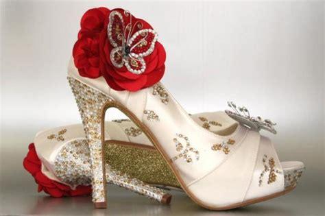 ivory and gold wedding shoes custom wedding shoes ivory peep toe wedding shoes with
