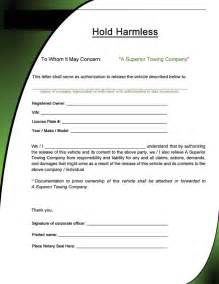 simple hold harmless agreement template 40 hold harmless agreement templates free template lab