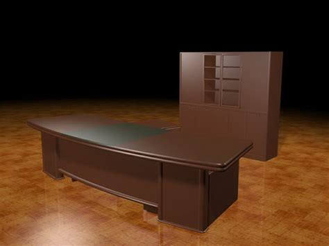 Curved executive desk 3d model 3dsMax files free download
