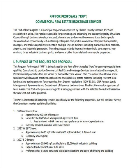 30 Request For Proposal Exles Rfp Template Commercial Real Estate
