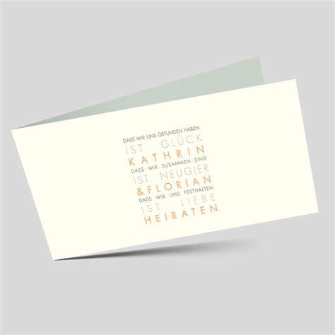 Schlichte Hochzeitseinladungen by Wort Hochzeitseinladung Schlichte Typografie