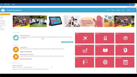 Student And Teacher Class Site Templates In Sharepoint Youtube Free Sharepoint Site Templates