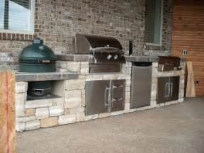Patio Kitchen Islands Big Green Egg And Grill Island Bbq Island Idea