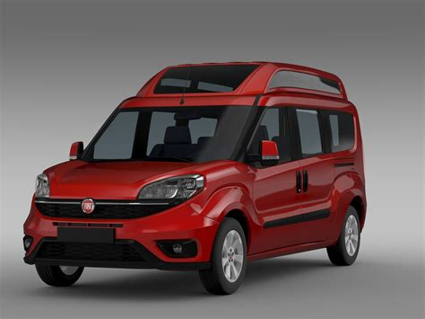 Model Maxy fiat doblo highroof maxi 263 2015 3d model buy fiat