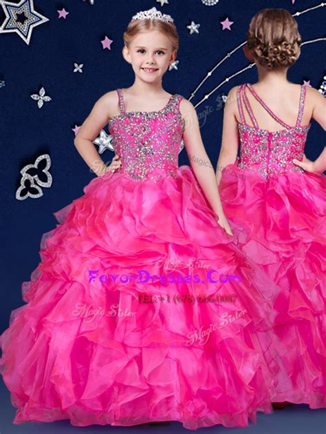 ball gowns  girls pageant dress wholesale hot pink