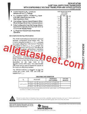 Dggr Co sn74lvc16t245dggr 데이터시트 pdf instruments