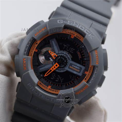 Jam Tangan Gshock Ga110 Ori Bm gambar jam tangan g shock ga110ts 1a4 abu abu orange ori