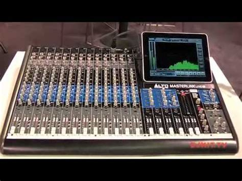 Mixer Alto Live alto masterlink live 16 channel mixer with dock