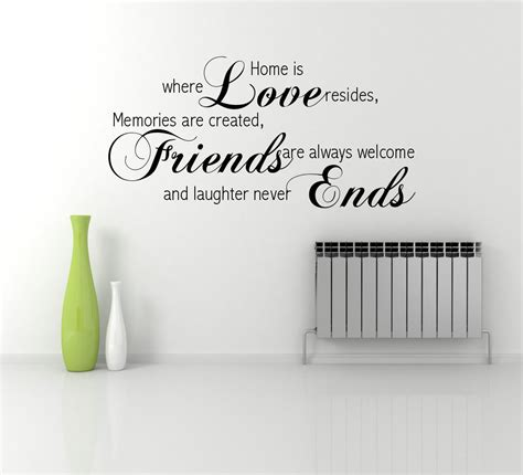 Wall Phrases Stickers love friends memory family wall quote phrase sticker decal