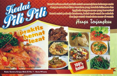membuat nama rumah makan banner iklan usaha makanan restaurant menarik desain