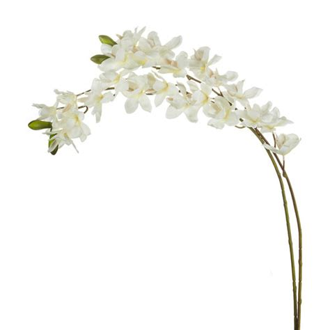 artificial cymbidium spray orchid cream