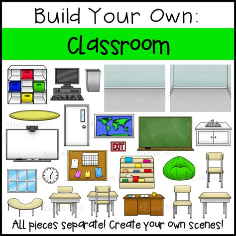 create your own building build your own classroom clip art allison fors