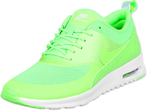 neon green nike shoes nike air max thea w shoes neon green