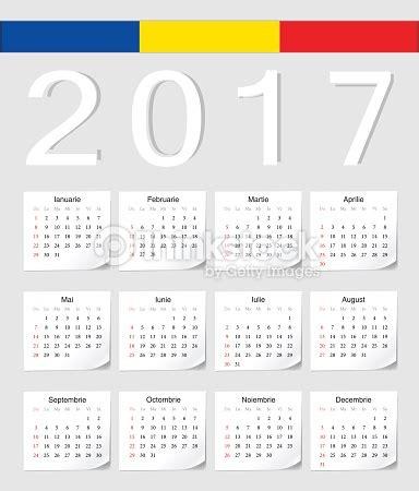 Romanian 2017 Calendar Vector Art   Thinkstock
