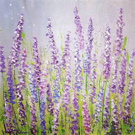 lavendar paint lavender field acrylic painting tutorial on youtube by