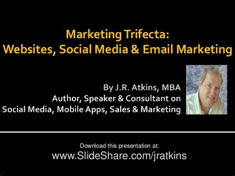 Email Social Media Search Marketing Trifecta Website Social Media Email Newsletter
