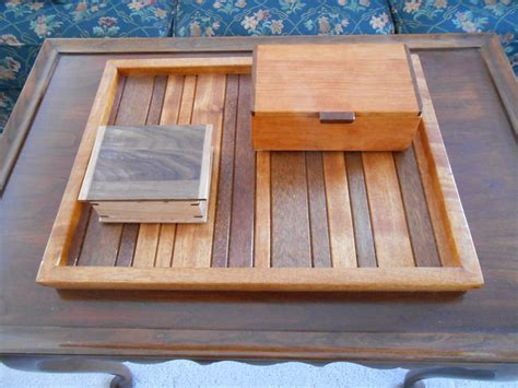 Handmade Wooden Trays - wooden boxes on wooden tray wooden handmade items