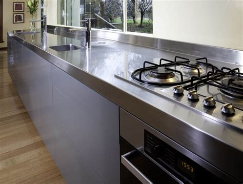 stainless kitchen bench bench tops kitchens gallery a l kitchens nurani