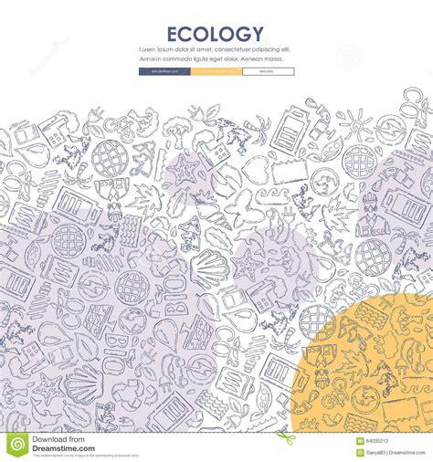 doodle website ecology doodle website template design vector